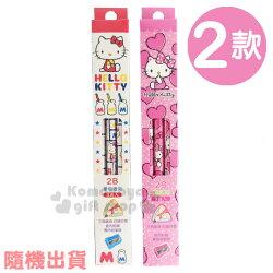 〔小禮堂〕Hello Kitty 三角鉛筆組《2款.隨機出貨.白/粉.牛奶罐/愛心》3支入.2B筆芯