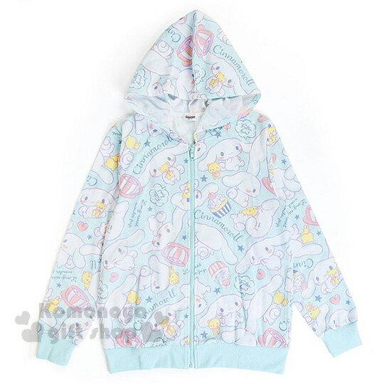〔小禮堂〕大耳狗 休閒連帽外套《藍.愛心.咖啡杯.小熊.滿版》連帽設計可遮陽避雨