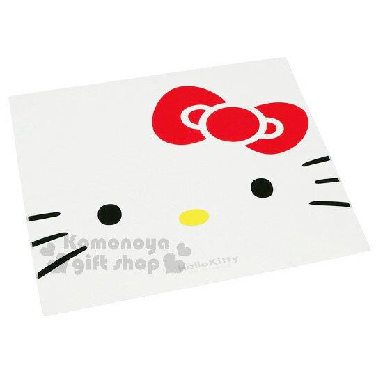 〔小禮堂〕Hello Kitty 日製便當包巾《紅白.大臉.52x52cm》也可當桌巾使用