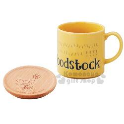 〔小禮堂〕糊塗塔客 日製陶瓷杯《黃.大臉》附木質杯蓋