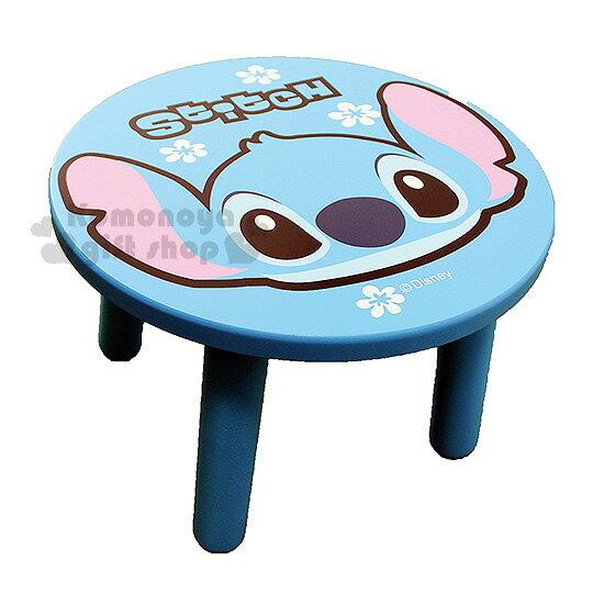 〔小禮堂〕史迪奇 圓形矮凳椅《藍.大臉.花朵》