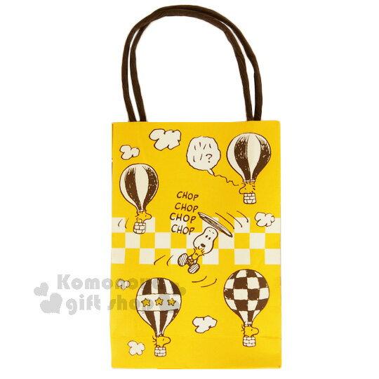 〔小禮堂〕史努比 紙膠帶《1入.黃黑.小黃鳥.熱氣球.10mm》手提紙袋包裝