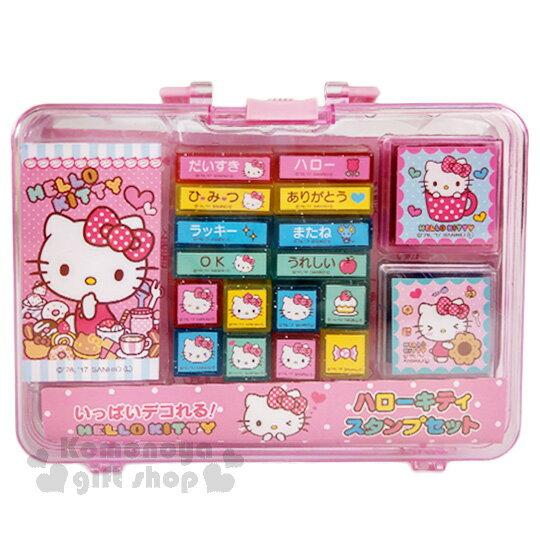 <br/><br/>  〔小禮堂〕Hello Kitty 印章組《粉.粉點點.奶油.甜點》附專屬收納盒<br/><br/>