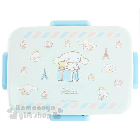 〔小禮堂〕大耳狗 日製四面扣便當盒《藍.行李箱.坐姿.鐵塔.小熊.650ml》內附隔板可將食物分類