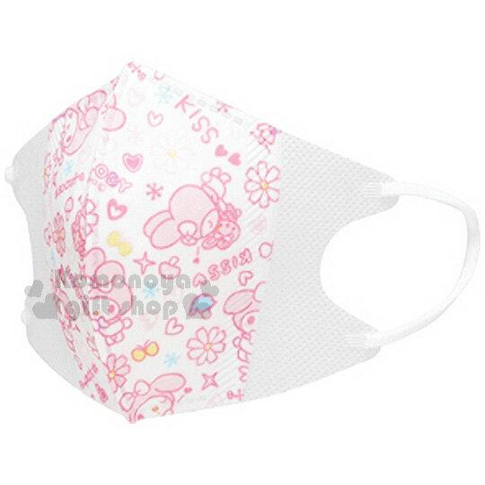 〔小禮堂〕美樂蒂 兒童立體口罩《5入.白.多動作.滿版.愛心.酷洛米》 1~3歲兒童