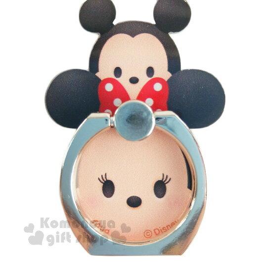 〔小禮堂〕迪士尼 Tsum Tsum 壓克力手機指環架《米奇米妮.堆疊》可360度旋轉
