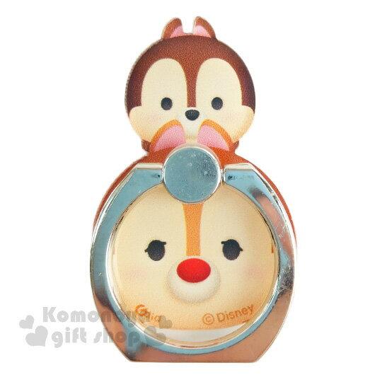 〔小禮堂〕迪士尼 Tsum Tsum 壓克力手機指環架《奇奇蒂蒂.堆疊》可360度旋轉