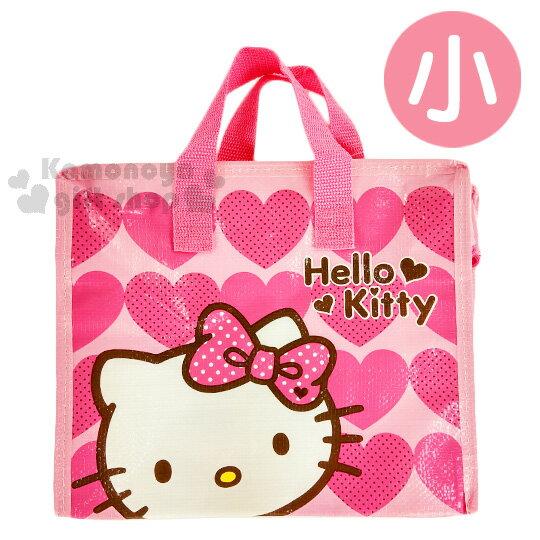 〔小禮堂〕Hello Kitty 購物袋《S.粉.愛心.點點蝴蝶結》棉被袋.衣物收納袋