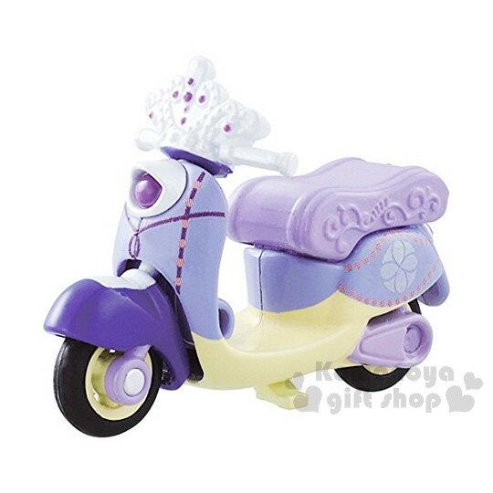〔小禮堂〕迪士尼 蘇菲亞小公主 TOMICA摩托車《紫.皇冠.花紋》經典造型值得收藏