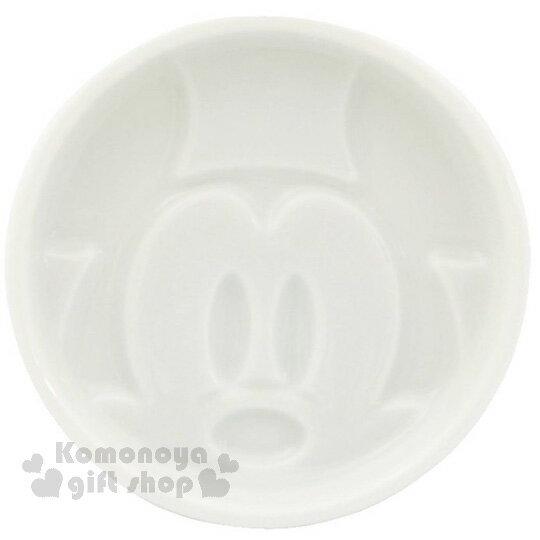 〔小禮堂〕迪士尼 米奇 日製陶瓷小菜碟《白.圓形.大臉》醬油碟.小碟