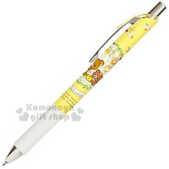 〔小禮堂〕拉拉熊 日製原子筆《黃.花圈.蜂蜜.臉紅》