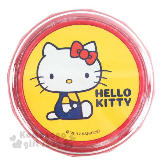 〔小禮堂〕Hello Kitty 桌上型吸塵器《紅黃.側坐.吊帶褲》掌上型.盒裝