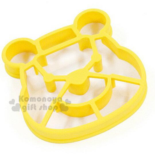 〔小禮堂〕小熊維尼 鬆餅壓模《黃.大臉.可做造型蛋.紙盒裝》創意便當輕鬆做