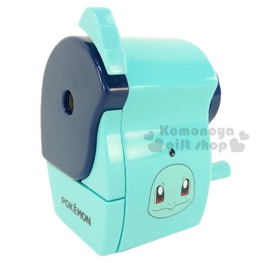 〔小禮堂〕神奇寶貝Pokémon傑尼龜削筆機《藍綠.大臉》