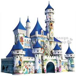 〔小禮堂〕迪士尼 3D立體造型拼圖《216片.城堡.盒裝》