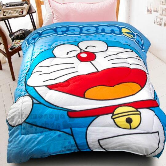 【下殺799 】哆啦A夢 毯被《藍.張嘴.舉手.150x195cm》棉被.毛毯