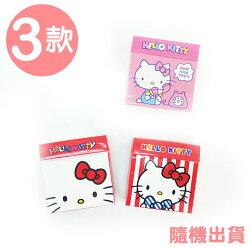 〔小禮堂〕Hello Kitty 盒裝自黏便利貼《3款.隨機出貨.粉紅講電話/紅白條紋蝴蝶結/紅白大臉》
