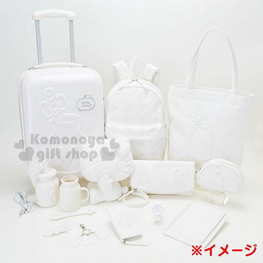 〔小禮堂〕Hello Kitty 馬克杯湯匙組《白.牛奶罐造型.大M.蝴蝶結》銀色聖誕 4