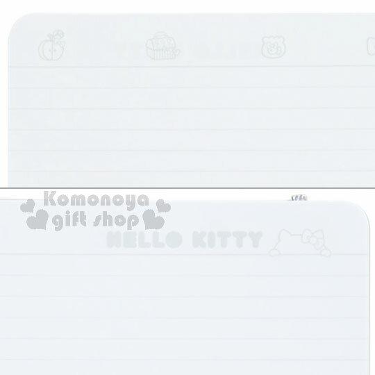 〔小禮堂〕Hello Kitty 線圈筆記本《約A5大小.全白.銀綁帶.多圖》銀色聖誕系列 4