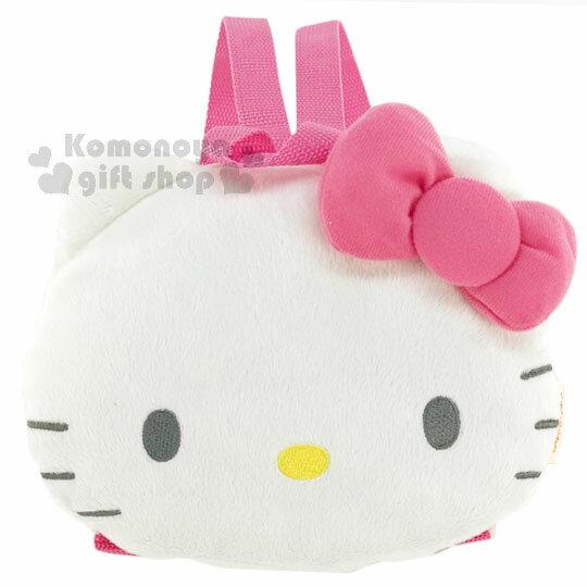 <br/><br/> 〔小禮堂﹞Hello Kitty 兒童造型後背包《白.大臉.桃粉蝴蝶結》<br/><br/>