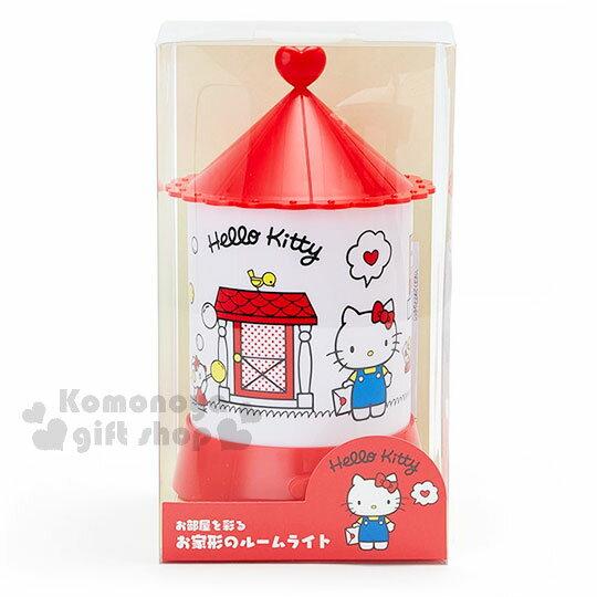〔小禮堂〕Hello Kitty 造型夜燈《紅白.站姿.拿信.門外》 0
