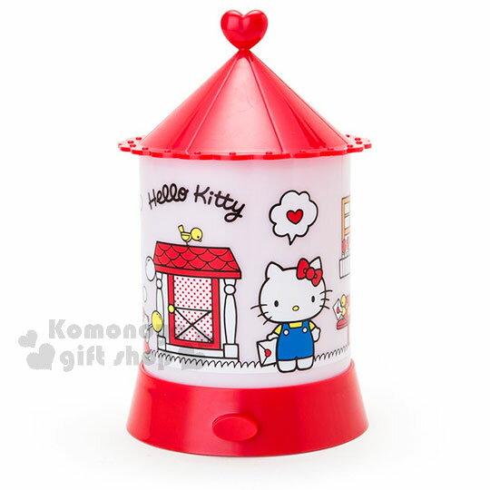 〔小禮堂〕Hello Kitty 造型夜燈《紅白.站姿.拿信.門外》 1