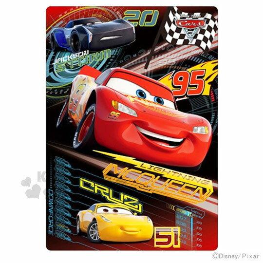 〔小禮堂〕迪士尼 CARS閃電麥坤 日製墊板《黑.紅.暴風.保羅.時數表》