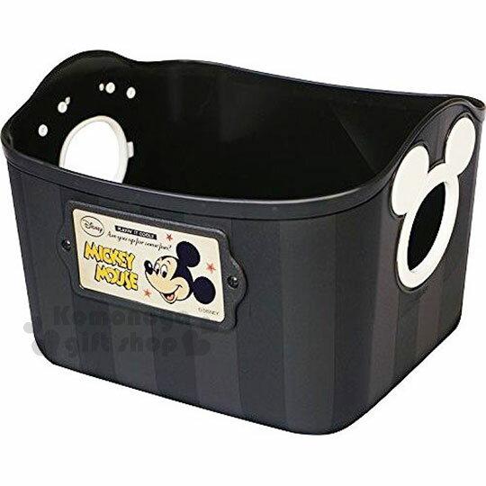 【領券折$30】小禮堂 迪士尼 米奇 日製方形軟式收納盒《2.5L.黑.造型提把.方形》輕鬆美化空間