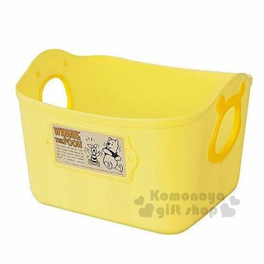【領券折$30】小禮堂 迪士尼 小熊維尼 日製方形軟式收納盒《2.5L.黃.造型提把.方形》輕鬆美化空間