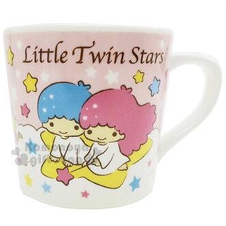 〔小禮堂〕雙子星 陶瓷馬克杯《粉白.雲.坐星星.溜滑梯.彩虹》