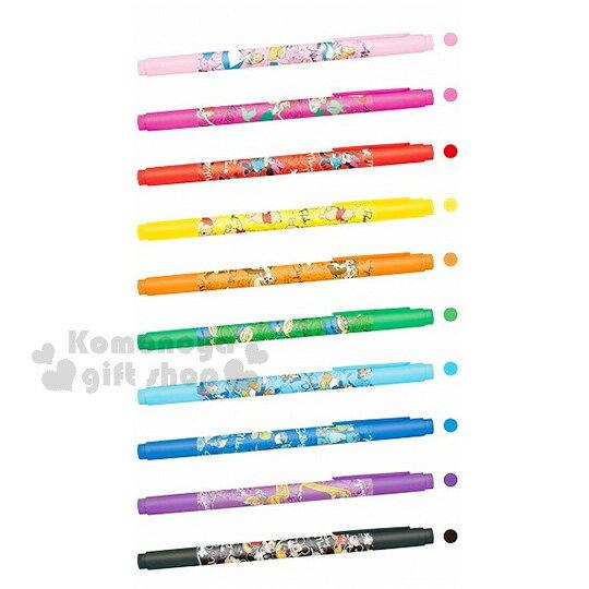 〔小禮堂〕迪士尼 雙頭彩色筆組《10色.多角色》