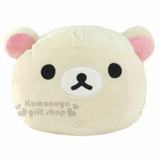 〔小禮堂〕拉拉熊 造型暖手枕《淺黃.大臉》可當靠枕.抱枕使用