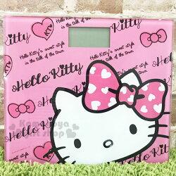 〔小禮堂〕Hello Kitty 電子體重計《粉.大臉.粉蝴蝶結.LOGO》高質感玻璃踏板