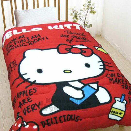 【下殺799】Hello Kitty 毯被《紅.側坐.拿鉛筆.150x195cm》棉被.毛毯 0