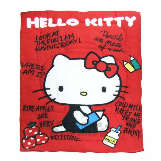【下殺799】Hello Kitty 毯被《紅.側坐.拿鉛筆.150x195cm》棉被.毛毯 1
