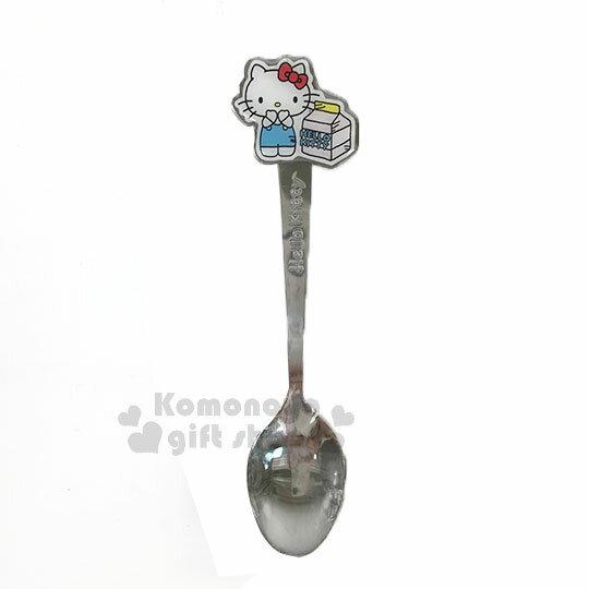 〔小禮堂〕Hello Kitty x Wei Wei 不鏽鋼造型甜點湯匙《粉.牛奶罐》304不鏽鋼