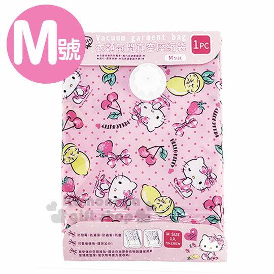 〔小禮堂〕Hello Kitty 衣類壓縮袋~M.粉.點點.萊姆.櫻桃.70X120cm~