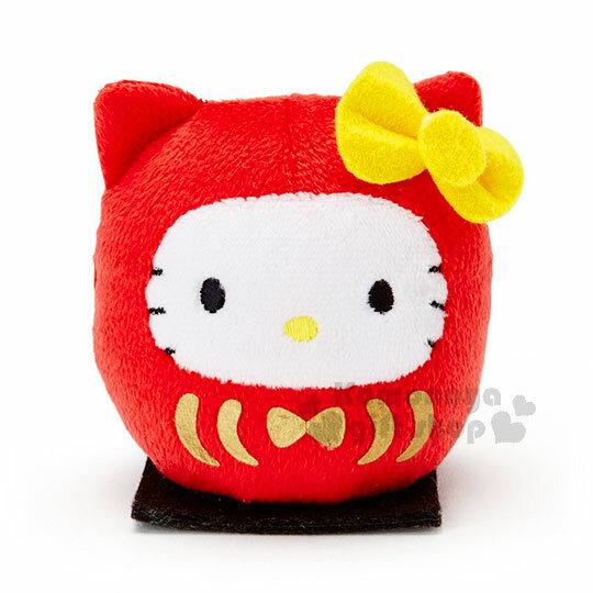 〔小禮堂〕Hello Kitty 絨毛玩偶娃娃《S.紅.黑坐墊.不倒翁》2018狗來福系列