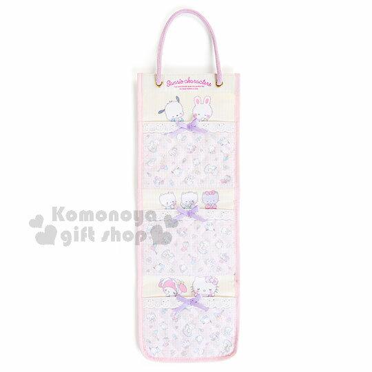 〔小禮堂〕Sanrio 3層壁掛袋《粉黃.條紋.菱形格.嬰兒.多角色》純真無瑕系列