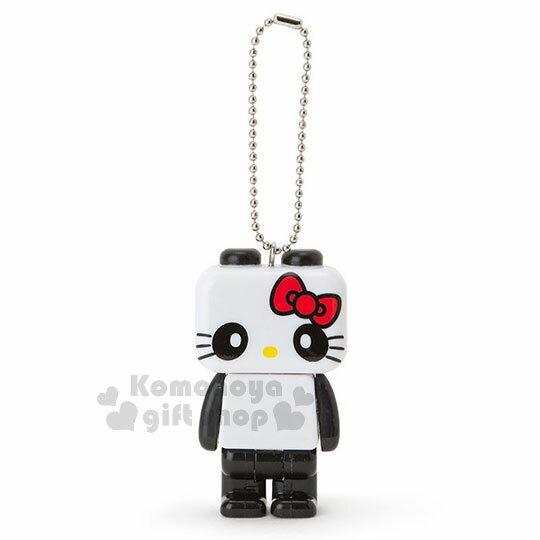 〔小禮堂〕 Hello Kitty 造型燈鎖圈《s.黑白.熊貓.變裝.積木》