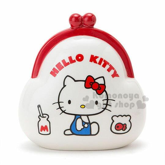 〔小禮堂〕Hello Kitty 陶瓷造型存錢筒《白.紅.牛奶.魚缸.側坐.錢包》可當擺飾品