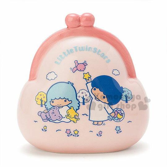 〔小禮堂〕雙子星 陶瓷造型存錢筒《粉.藍頭髮.餵小鳥.錢包》可當擺飾品