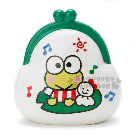 〔小禮堂〕大眼蛙 陶瓷造型存錢筒《綠.白.晴天娃娃.好心情.錢包》可當擺飾品