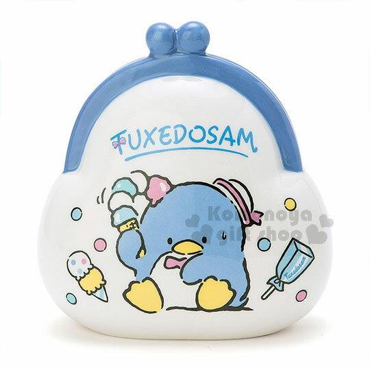 〔小禮堂〕山母企鵝 陶瓷造型存錢筒《藍.白.冰淇淋.坐姿.錢包》可當擺飾品