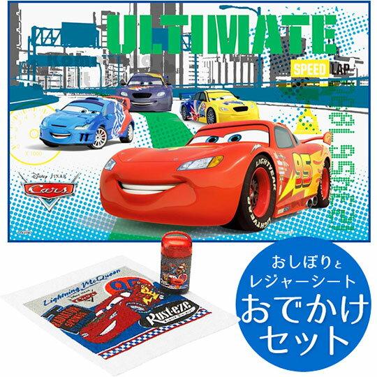 〔小禮堂〕迪士尼 閃電麥坤CARS 野餐墊《S.紅白.95.多角色.90x60cm》單人用尺寸設計