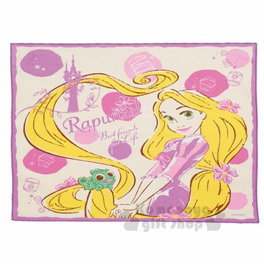 〔小禮堂〕迪士尼 魔髮奇緣 長髮公主 樂佩 日製便當包巾《紫粉.圓點.微笑.43x43cm》純綿100%
