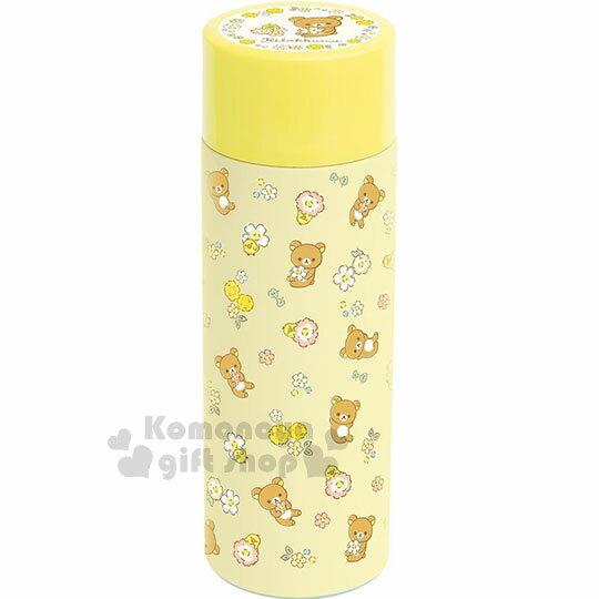 〔小禮堂〕拉拉熊 超輕量不鏽鋼保溫瓶《黃.小碎花.小雞.350ml》保溫保冷