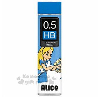 〔小禮堂〕迪士尼 愛麗絲 日製自動鉛筆芯《HB.藍.花圈.0.5mm》日本Pentel飛龍牌