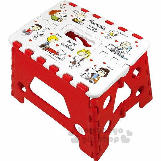 〔小禮堂〕史努比 攜帶式折疊椅《白紅.查理布朗.露西.多角色》提把設計.方便攜帶 0