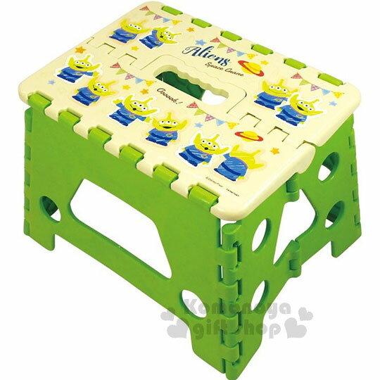 〔小禮堂〕迪士尼 玩具總動員 三眼怪 攜帶式折疊椅《黃綠.派對星球》提把設計.方便攜帶 0